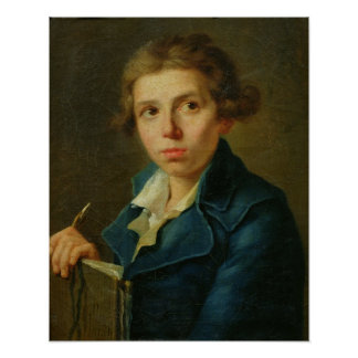 Portrait of Jacques-Louis David  as a Youth Poster