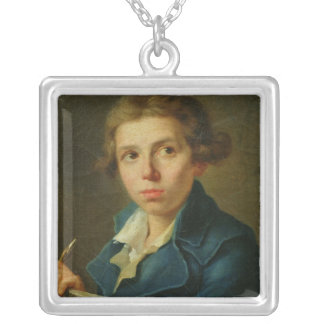 Portrait of Jacques-Louis David  as a Youth Silver Plated Necklace