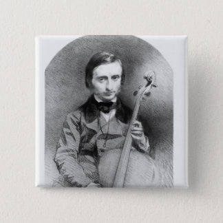 Portrait of Jacques Offenbach  1850 Pinback Button