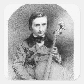 Portrait of Jacques Offenbach  1850 Square Sticker