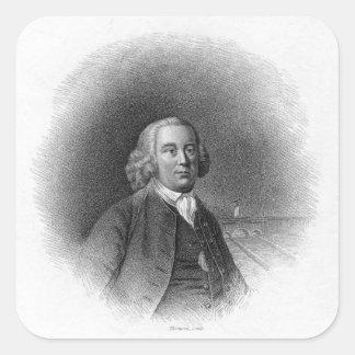 Portrait of James Brindley Square Sticker