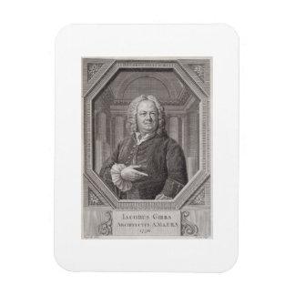Portrait of James Gibbs (1682-1754) from 'Plans, S Rectangular Photo Magnet