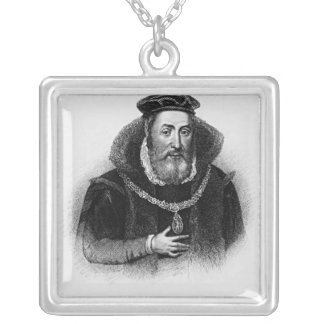 Portrait of James Hamilton  2nd Earl of Arran Silver Plated Necklace