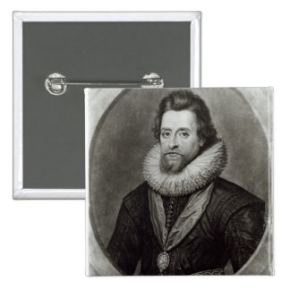 Portrait of James I  after a miniature by 2 Inch Square Button