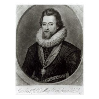 Portrait of James I  after a miniature by Postcard