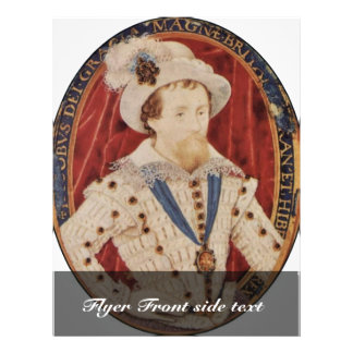 """Portrait Of James I, King Of England Oval By Hilli 8.5"""" X 11"""" Flyer"""