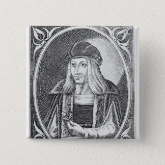 Portrait of James IV of Scotland Button