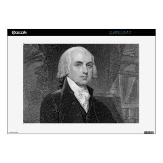 """Portrait of James Madison, engraved by William A. 15"""" Laptop Skins"""