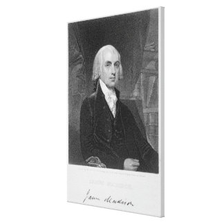 Portrait of James Madison, engraved by William A. Canvas Print