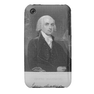 Portrait of James Madison, engraved by William A. iPhone 3 Case-Mate Case