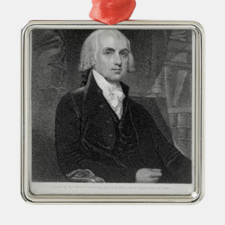 Portrait of James Madison, engraved by William A. Metal Ornament