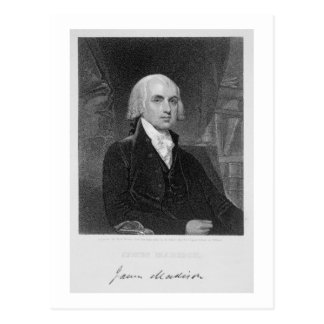 Portrait of James Madison, engraved by William A. Postcard