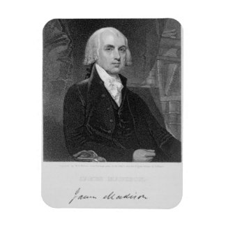 Portrait of James Madison, engraved by William A. Rectangular Photo Magnet