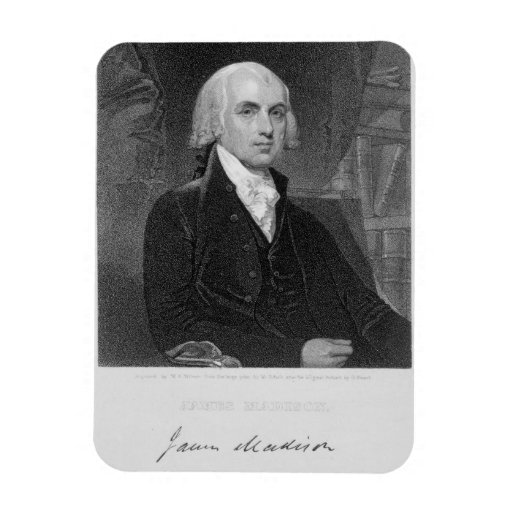 Portrait of james madison engraved by william a for James madison pets