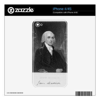 Portrait of James Madison, engraved by William A. Skins For iPhone 4S
