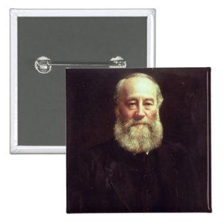 Portrait of James Prescott Joule 2 Inch Square Button