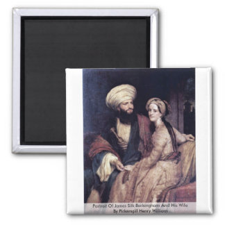 Portrait Of James Silk Buckingham And His Wife Magnets