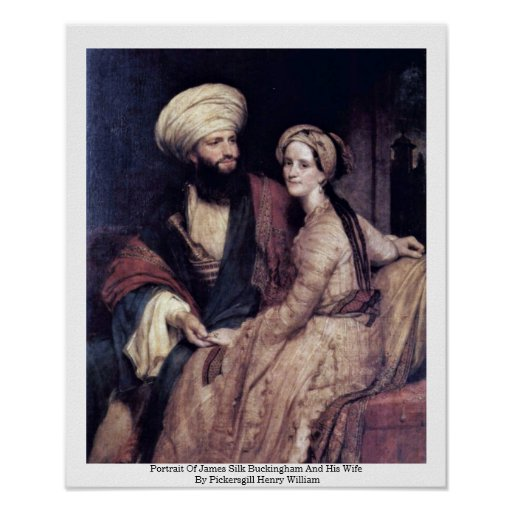 Portrait Of James Silk Buckingham And His Wife Poster