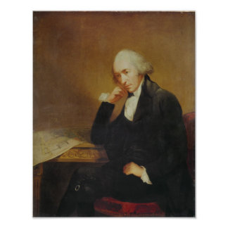 Portrait of James Watt  1792 Poster