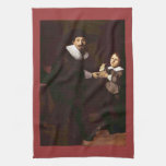 Portrait of Jan and his son Pellicorne - Rembrandt Towels
