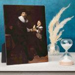 Portrait of Jan and his son Pellicorne - Rembrandt Plaque