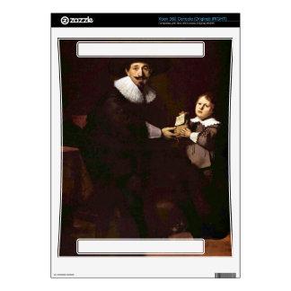 Portrait of Jan and his son Pellicorne - Rembrandt Xbox 360 Console Skins