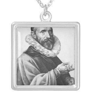 Portrait of Jan Pieterszoon Sweelinck, 1624 Silver Plated Necklace