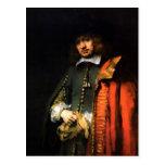 Portrait of Jan Six by Rembrandt Postcard