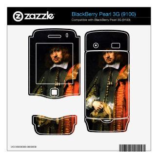 Portrait of Jan Six by Rembrandt BlackBerry Pearl Skins