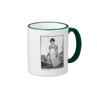 Portrait of Jane Austen 1906 Ringer Coffee Mug