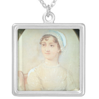 Portrait of Jane Austen Silver Plated Necklace