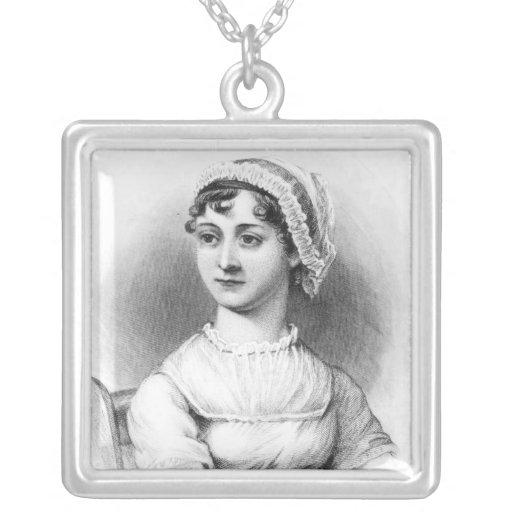 Portrait of Jane Austen Square Pendant Necklace