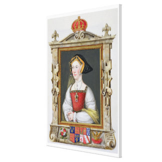 Portrait of Jane Seymour (c.1509-37) 3rd Queen of Canvas Print