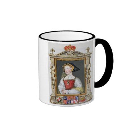 Portrait of Jane Seymour (c.1509-37) 3rd Queen of Mug
