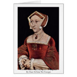 Portrait Of Jane Seymour, Queen Of England Greeting Cards
