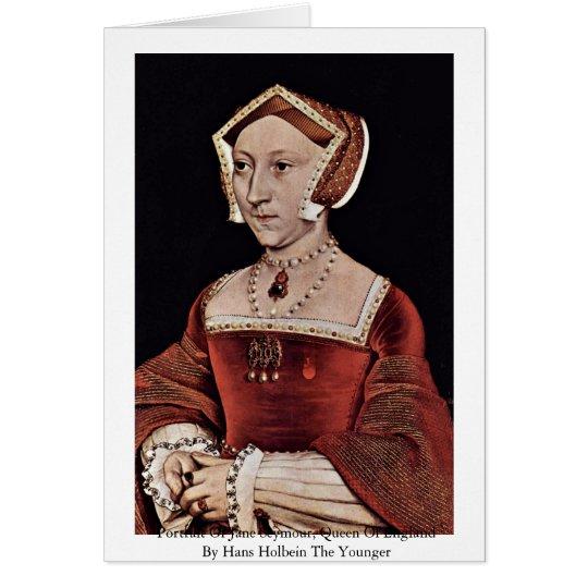 Portrait Of Jane Seymour, Queen Of England Card