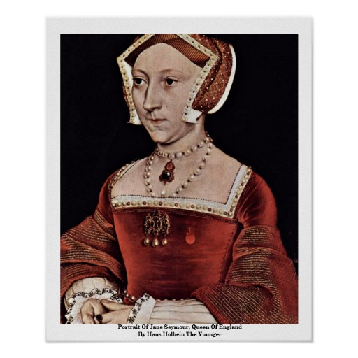 Portrait Of Jane Seymour, Queen Of England Poster