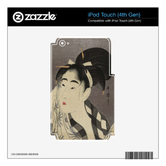 Portrait of Japanese Lady Decal For iPod Touch 4G