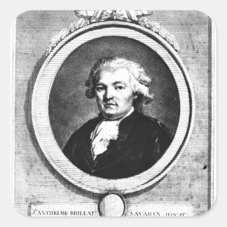 Portrait of Jean-Anthelme Brillat-Savarin Square Sticker