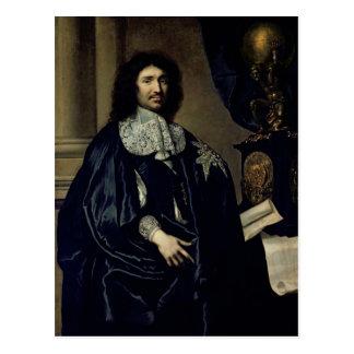 Portrait of Jean-Baptiste Colbert de Torcy  1666 Postcard