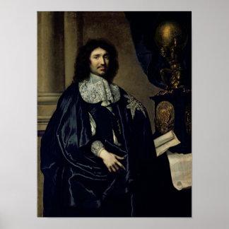 Portrait of Jean-Baptiste Colbert de Torcy  1666 Poster