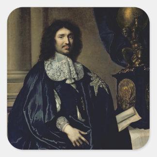 Portrait of Jean-Baptiste Colbert de Torcy  1666 Square Sticker
