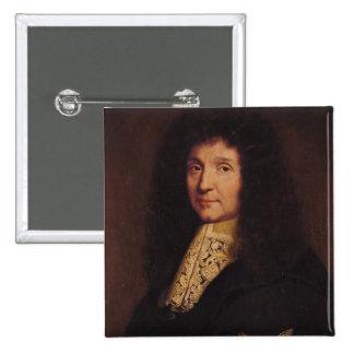 Portrait of Jean-Baptiste Colbert de Torcy  1667 2 Inch Square Button