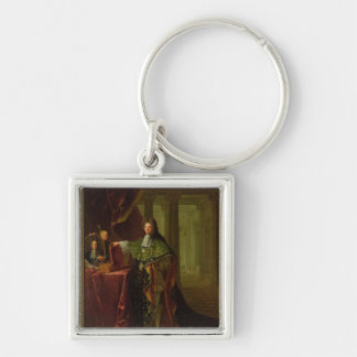 Portrait of Jean-Baptiste Colbert Silver-Colored Square Keychain