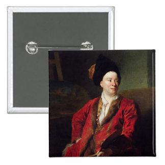 Portrait of Jean Baptiste Forest  1704 2 Inch Square Button