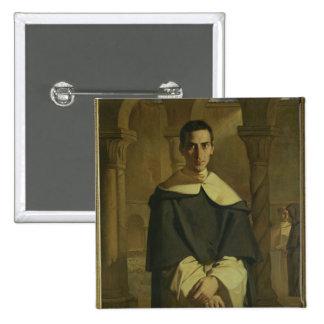 Portrait of Jean Baptiste Henri Lacordaire 2 Inch Square Button