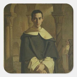 Portrait of Jean Baptiste Henri Lacordaire Square Sticker