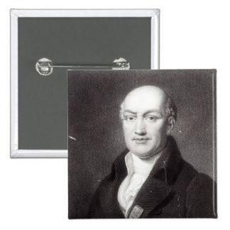 Portrait of Jean Baptiste Joseph Delambre 2 Inch Square Button