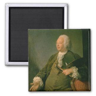 Portrait of Jean-Baptiste Oudry (1686-1755) c.1753 2 Inch Square Magnet