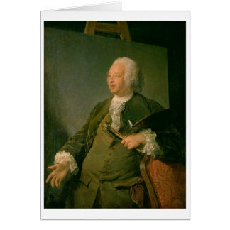 Portrait of Jean-Baptiste Oudry (1686-1755) c.1753 Greeting Cards